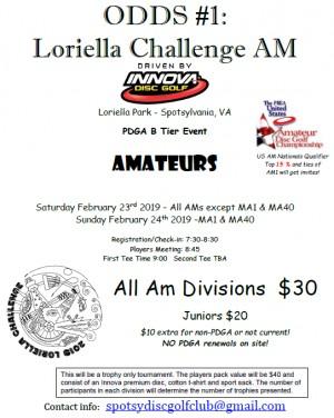 ODDS #1 - Loriella Challenge AM Driven by INNOVA (MA1 & MA40) graphic