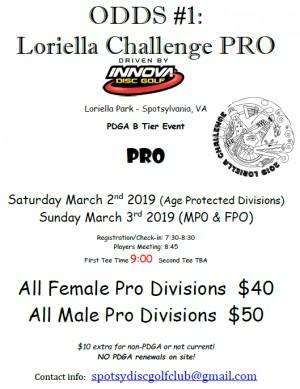 ODDS #1 - Loriella Challenge PRO Driven by INNOVA (MPO & FPO) graphic
