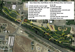GSDG Winter Series #6 Kuna Disc Golf Course graphic