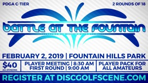 Battle at the Fountain presented by Dynamic Discs and FHDGC graphic