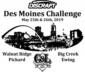Des Moines Challenge 2019 Presented by Discraft & G&L Clothing graphic