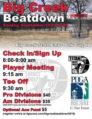 Big Creek Beatdown 2019 graphic