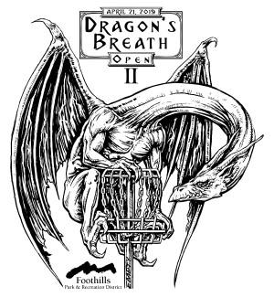 Dragon's Breath Open II bestowed by Innova Champion Discs graphic