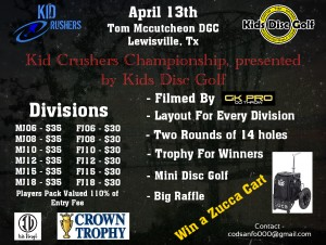 Kid Crushers Championship, presented by Kids Disc Golf graphic