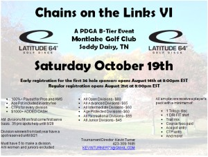 Chains on the Links VI - Sponsored by Latitude 64 graphic