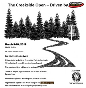 Creekside Open 2019 - Driven by Innova graphic