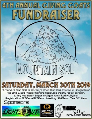 4th Annual Giving Goats Fundraiser Tournament for Mountain SOL - Sponsored by Dynamic Discs graphic