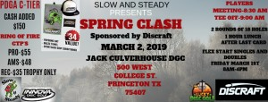 Slow and Steady Spring Clash Sponsored by Discraft graphic