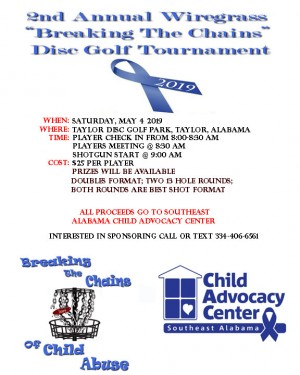"""2nd Annual Wiregrass """"Breaking the Chains"""" Disc Golf Tournament graphic"""