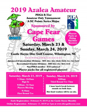 Azalea AM Presented By Cape Fear Games graphic