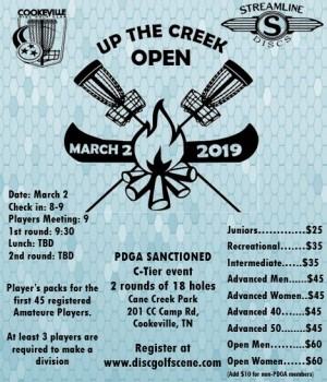 Up the Creek Open graphic