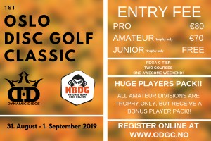 Dynamic Discs 1st Oslo Disc Golf Classic presented by NBDG graphic