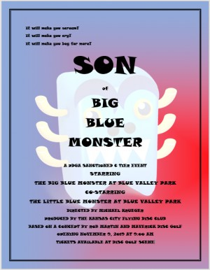 SON of Big Blue Monster presented by Millennium Golf Discs graphic