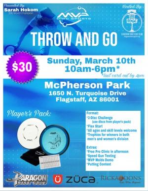 Throw & Go MVP with Sarah Hokom (Flagstaff, AZ) graphic