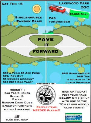 Pave it Forward ~Lakewood Park Pad Fundraiser graphic
