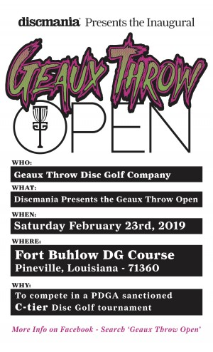 Discmania Presents the Geaux Throw Open graphic