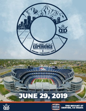 Dynamic Discs presents the 2019 Disc Golf Experience at Broncos Stadium at Mile High graphic