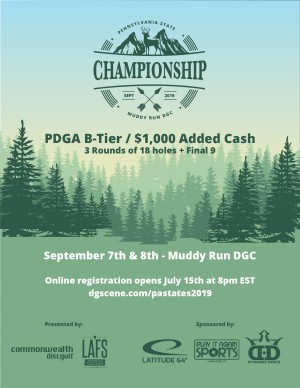 The Pennsylvania State Disc Golf Championship - Sponsored by: Latitude 64 & PIAS Lancaster graphic
