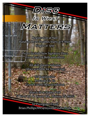 Disc Is What Matter(s) graphic