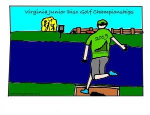 2019 Virginia Junior Disc Golf Championships graphic