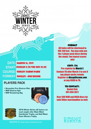 2019 Memphis MVP Winter Series Event graphic