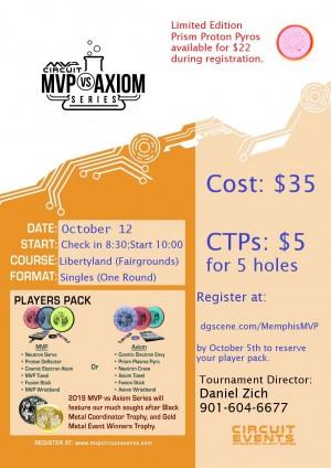 2019 Memphis MVP vs. Axiom Event graphic