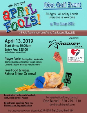 4th Annual APril Fools Disc Golf Event graphic