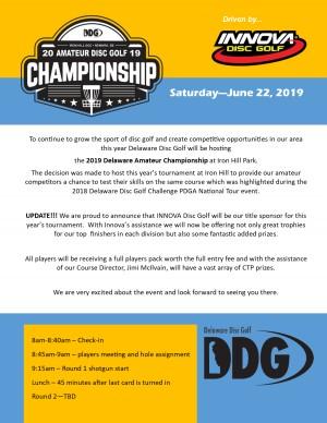 2019 Delaware Amateur Championship driven by INNOVA graphic