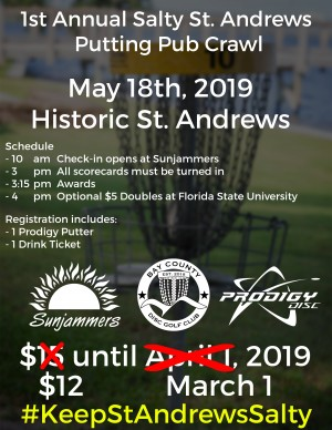 Sunjammers St. Andrews Putting Pub Crawl presented by Prodigy graphic