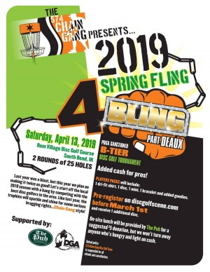 574 Chain Gang Disc Golf Team Presents Spring Fling For Bling Part Deaux graphic