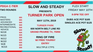 Turner Park Open presented by Slow and Steady graphic