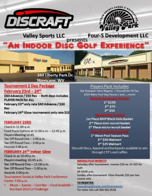 Putnam County's Indoor Disc Golf Experience Presented by Discraft graphic