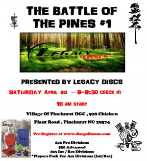 The Battle Of The Pines #1 Presented By Legacy Discs graphic