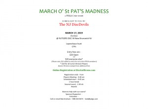 March O' St. Pat's Madness 2019 graphic