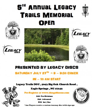 5th Annual Legacy Trails Memorial Open Presented By Legacy Discs graphic
