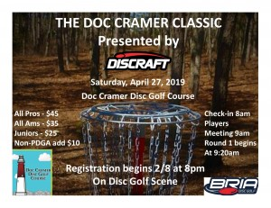 The Doc Cramer Classic presented by Discraft graphic