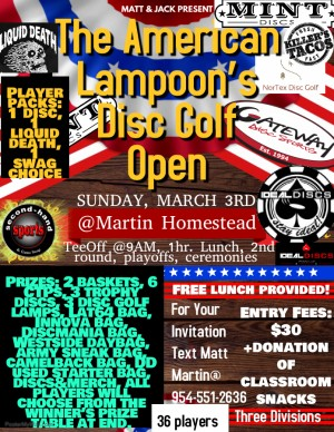 The American Lampoon's Disc Golf Open graphic