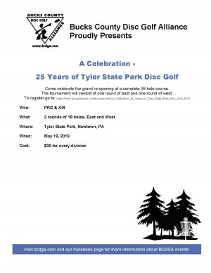 A Celebration - 25 Years of Tyler State Park Disc Golf graphic