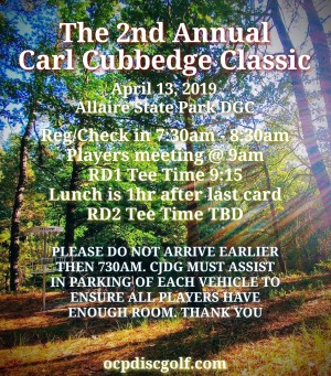 The 2nd Annual Carl Cubbedge Classic graphic