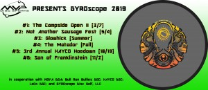 MVP Disc Sports presents GYROscope #5: The 3rd Annual HAYCO Hoedown graphic