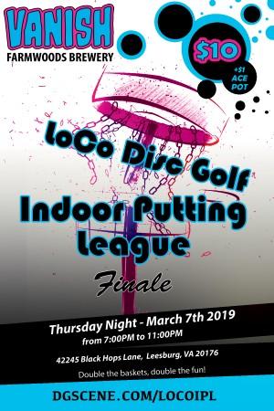 2019 LoCo Indoor Putting League Finale graphic
