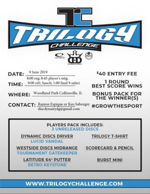 2019 Trilogy Challenge: Disc Dynasty Disc Golf Club graphic