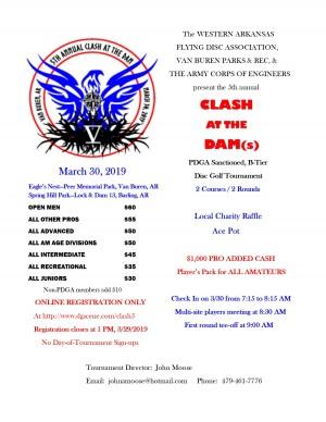 5th Annual Clash At The Dam graphic