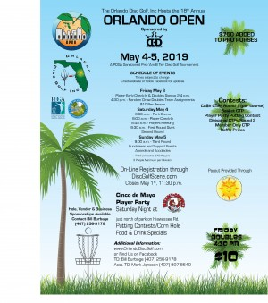 2019 Orlando Open sponsored by  Dynamic Discs graphic