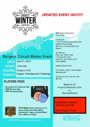 Burgess MVP Circuit Winter Event graphic