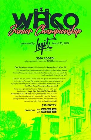 W.A.C.O. Junior Championship graphic