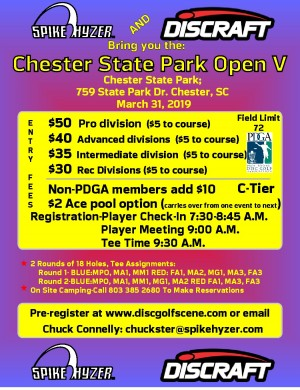 Spike Hyzer's: Chester Park Open V graphic