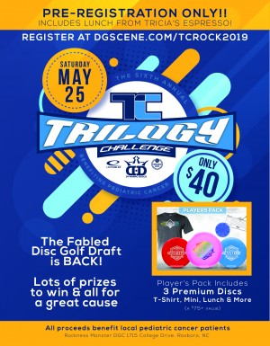 6th Annual Trilogy Challenge at the Rock for Pediatric Cancer graphic