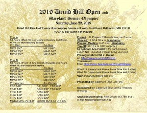 2019 Druid Hill Open graphic