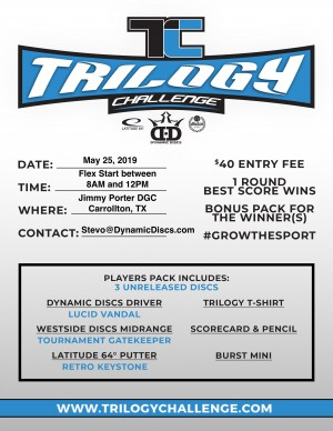 Dynamic Discs Presents the 2019 Trilogy Challenge graphic